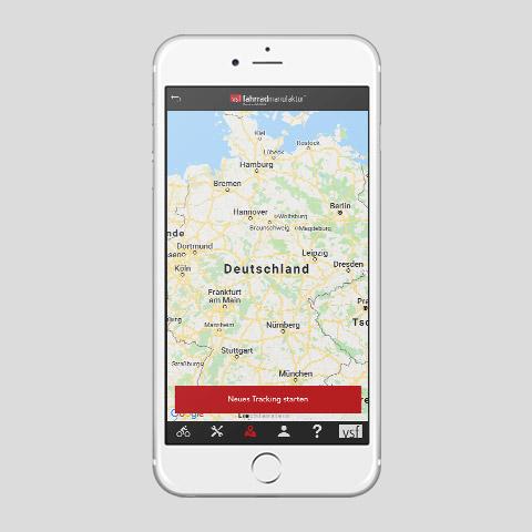 Kostenlose Fahrrad App